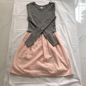 Gap Girls Dress (Grey and Pink)